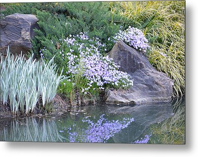Metal Print featuring the photograph On The Banks Of The Pool by Linda Geiger