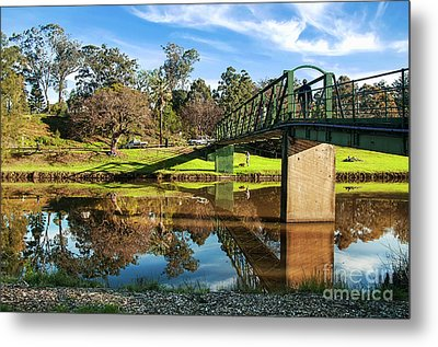 Metal Print featuring the photograph On The Banks Of The River By Kaye Menner by Kaye Menner