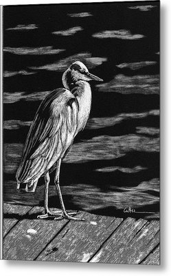 On The Dock In The Bay Metal Print by Diane Cutter