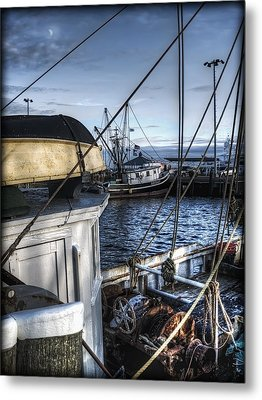On The Docks In Provincetown Metal Print by Tammy Wetzel