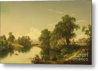On The Esopus Creek, Ulster County, Ny Metal Print