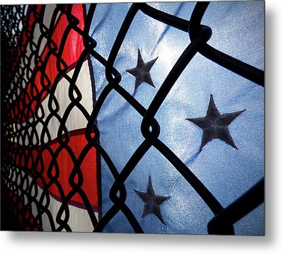 Metal Print featuring the photograph On The Fence by Robert Geary