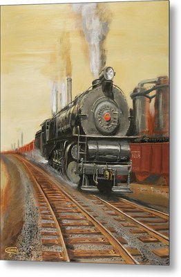 On The Great Steel Road Metal Print by Christopher Jenkins