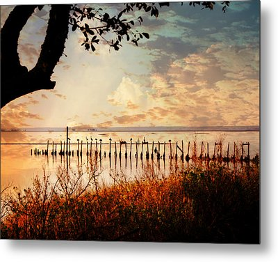 On The Gulf Metal Print by Marty Koch