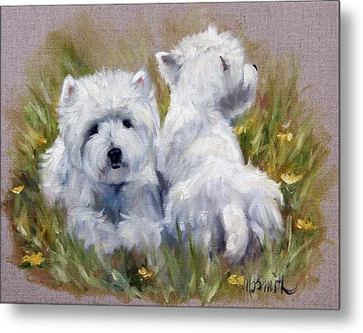 On The Lawn Metal Print by Mary Sparrow
