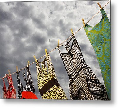 On The Line Metal Print by Rebecca Cozart