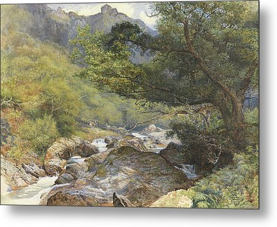 On The Lyn, North Devon Metal Print by William Henry Millais