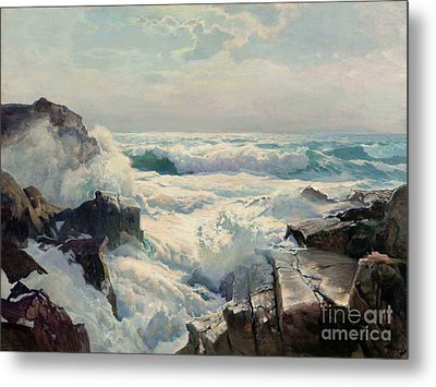 On The Maine Coast Metal Print by Pg Reproductions