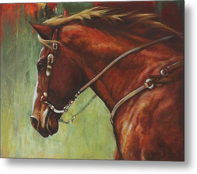 Metal Print featuring the painting On The Move by Harvie Brown