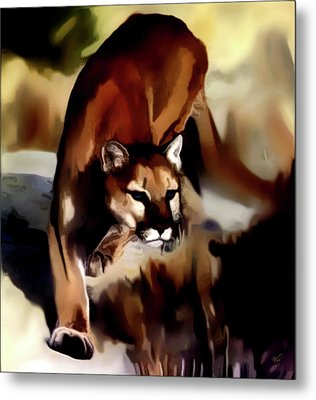 On The Prowl Metal Print by Vic Weiford