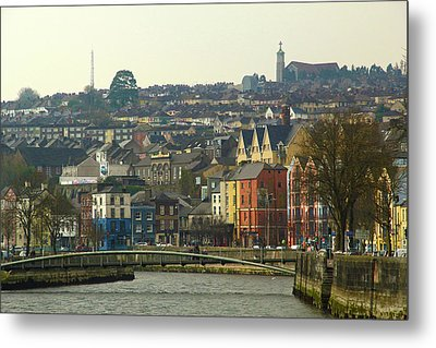 Metal Print featuring the photograph On The River Lee, Cork Ireland by Marie Leslie