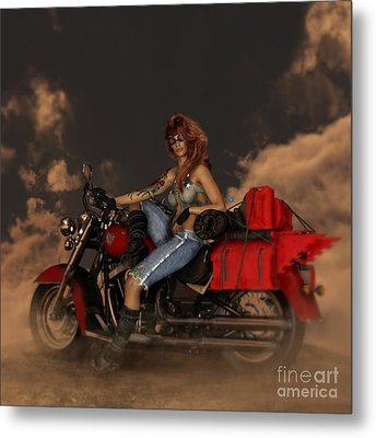 Metal Print featuring the digital art On The Road Again by Shanina Conway