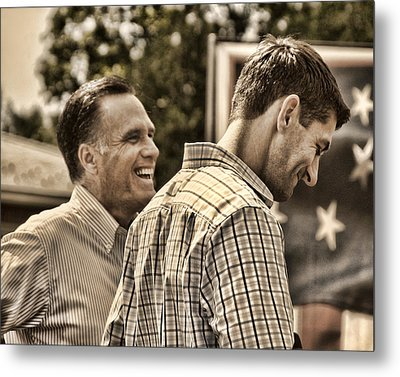 On The Road-mitt Romney Metal Print by Joann Vitali
