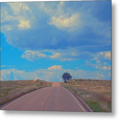 On The Road Oklahoma Revisited Metal Print