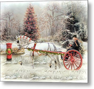 Metal Print featuring the digital art  On The Road To Christmas by Trudi Simmonds