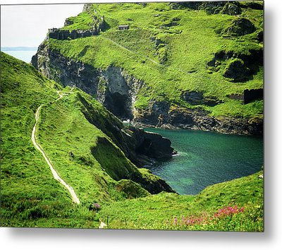 Metal Print featuring the photograph On The Road To Tintagel by Connie Handscomb