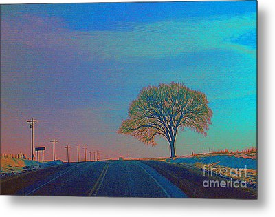On The Road Wisconsin  Revisited Metal Print
