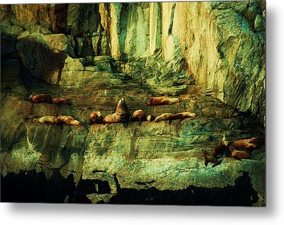 On The Rocks Metal Print by Helen Carson