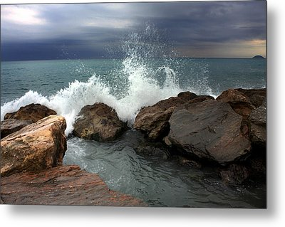 Metal Print featuring the photograph On The Rocks by Martina  Rathgens