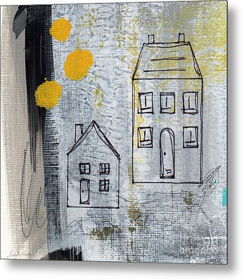On The Same Street Metal Print by Linda Woods