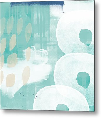 On The Shore- Abstract Painting Metal Print by Linda Woods