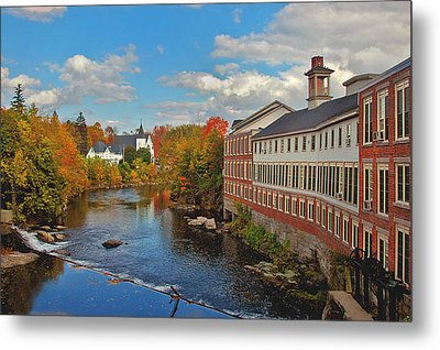 On The Souhegan Metal Print by Joann Vitali