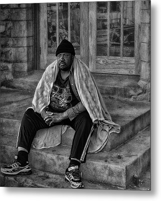 On The Steps Of Gods' House Metal Print by Kelly Rader