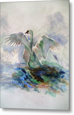 On The Water Metal Print by Khalid Saeed
