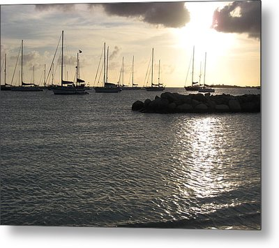 On The Water Metal Print by Michael Albright