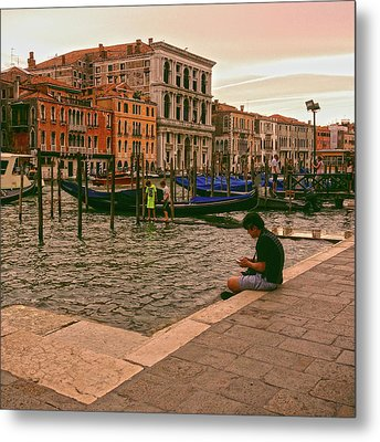 Metal Print featuring the photograph On The Waterfront by Anne Kotan