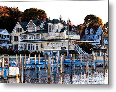 Metal Print featuring the photograph On The Wharf by Anne Raczkowski