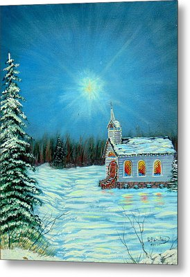 On This Night Metal Print by David Bentley