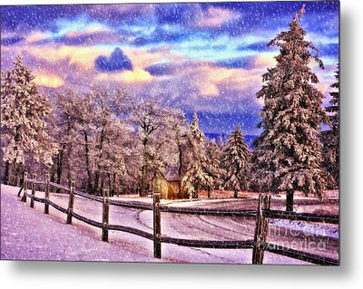 On Top Of Old Blue Knob Metal Print by Lois Bryan
