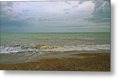 Metal Print featuring the photograph On Weymouth Beach by Anne Kotan
