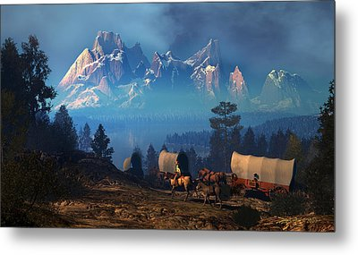 Once But Long Ago Metal Print by Dieter Carlton