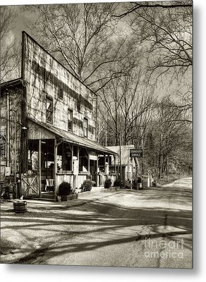 Once Upon A Story # 2 Sepia Tone Metal Print by Mel Steinhauer