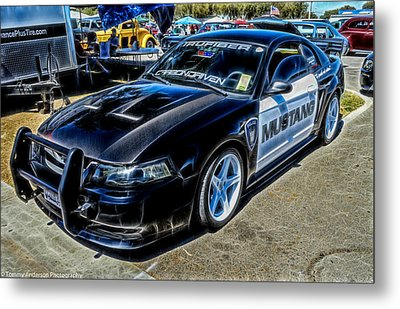 One Bad Ass Squad Car Metal Print by Tommy Anderson