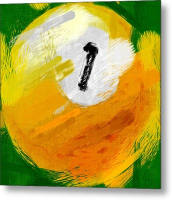 One Ball Abstract Metal Print by David G Paul