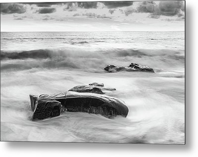 One Day After The Next Black And White Metal Print