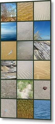 One Day At The Beach Ll Metal Print by Michelle Calkins