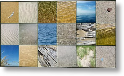 One Day At The Beach  Metal Print by Michelle Calkins