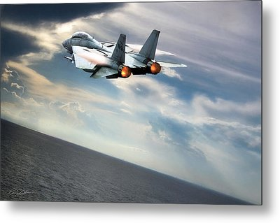 One Fast Cat Vf-31 Metal Print by Peter Chilelli