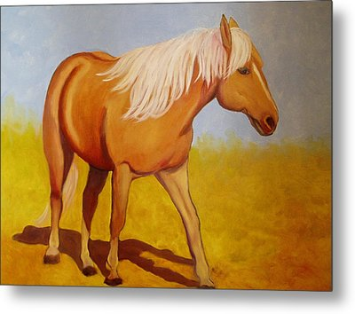 One Foot In Front Of The Other Metal Print by Marie Hamby