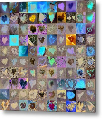 One Hundred And One Hearts Metal Print