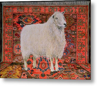 One Hundred Percent Wool Metal Print by Ditz