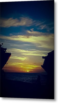 Metal Print featuring the photograph One Last Glimpse by DigiArt Diaries by Vicky B Fuller