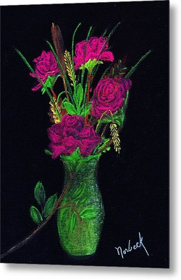 One More Rose Metal Print by Thomas J Norbeck