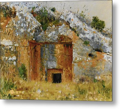 One Of The Old Jewish Tombs Near Jerusalem Metal Print by MotionAge Designs