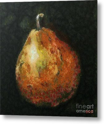One Pear Metal Print