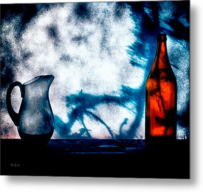 One Red Bottle Metal Print